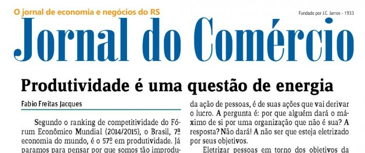 Artigo de Fabio Jacques publicado no Jornal do Comércio