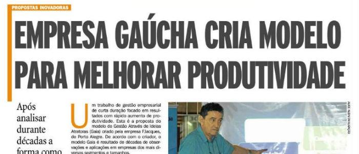 Modelo GAIA é destaque no jornal Zero Hora