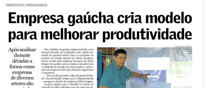 Jornal Pioneiro, de Caxias do Sul, também destaca Modelo GAIA