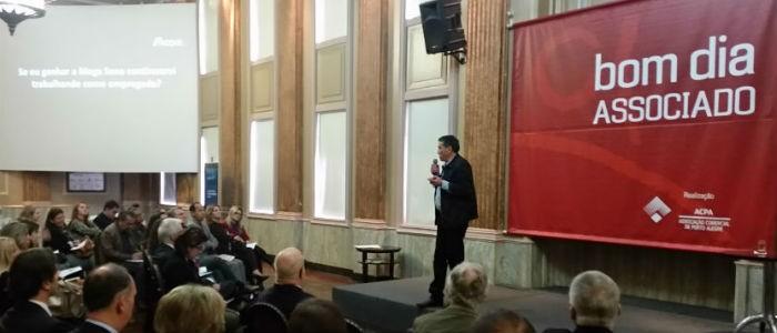 Fabio Jacques palestra na Associação Comercial de Porto Alegre