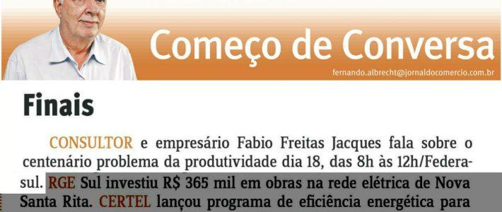Jornalista Fernando Albrecht destaca palestra de Fabio Jacques